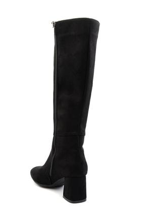 Bambi Siyah Süet Kadın Çizme M0842081565 3