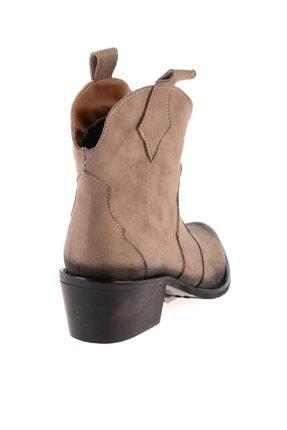 Bambi Vizon Süet Kadın Bot & Bootie K0532650065 3