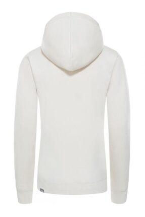 The North Face Drew Peak Pullover Hoodie Kapüşonlu Kadın Sweatshirt Beyaz 1
