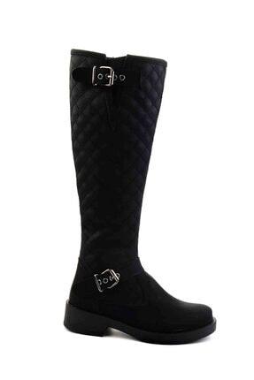 Bambi Siyah Kadın Çizme M0510440109 2