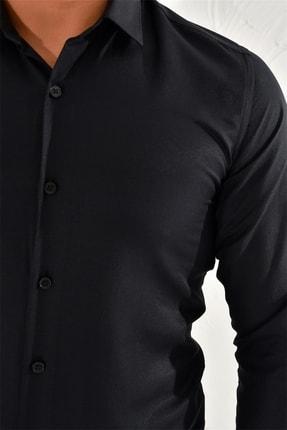 Efor Gk 572 Slim Fit Siyah Klasik Gömlek 4
