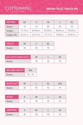 Cottonhill Klasik Basic Lazer Kesim Bikini Külot 3'lü Paket - 3 4