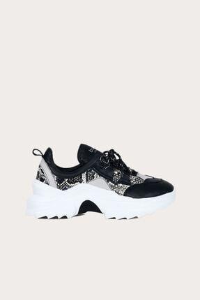 Bueno Siyah Deri Kadın Spor Ayakkabı 01WS3304