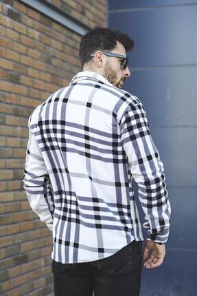 Oksit Sorte Edwin Slim Fit Ekose Polar Gömlek 2
