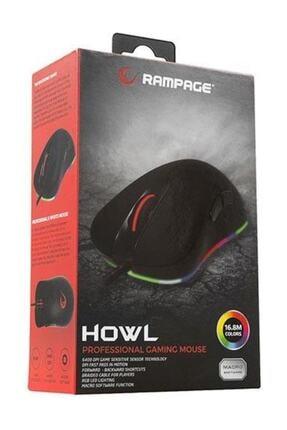 Everest Rampage Smx-r50 Howl Usb Siyah Rgb Işıklı+macro Usb Oyuncu Mouse 4