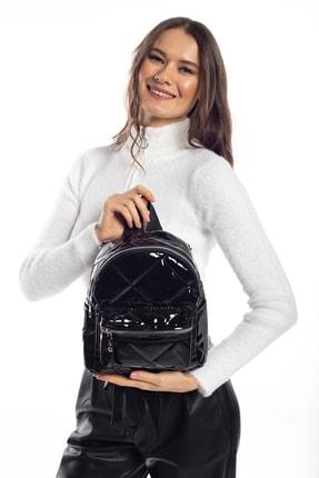 Madamra Aynı Butikte 2. Ürün 1 TL Siyah Rugan Kadın Sırt Çantası 1