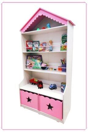 MONTESEV Kitaplık Raf Çocuk Bebek Odası Oyun Evi Oyuncak Kutusu Dolabı Sepeti Ahşap Montessori 2
