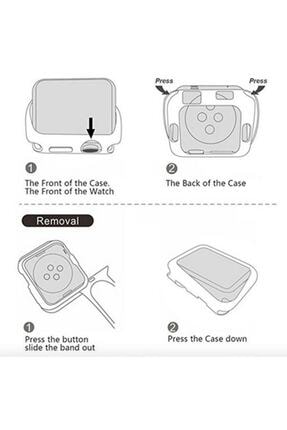 Gate Apple Watch 40 Mm Uyumlu Şeffaf Silikon Kılıf 40mm Watch Tam Koruma Koruyucu 2