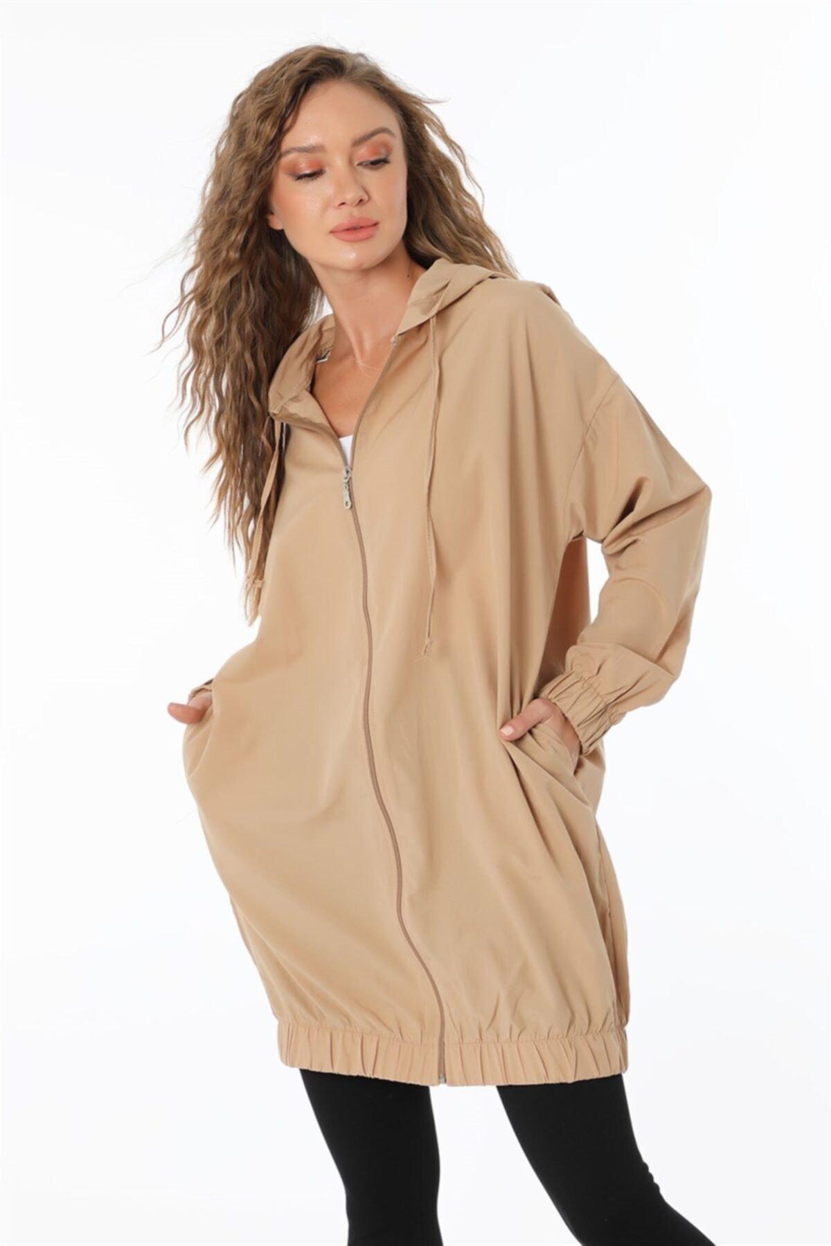 Kapşonlu Tunik Camel