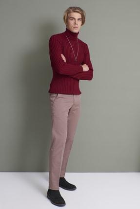Tena Moda Erkek Koyu Vizon (214) Klasik Rahat Kalıpkumaş Pantolon 4