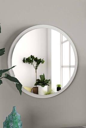 bluecape Yuvarlak Beyaz Duvar Salon Ofis Aynası 45cm 0