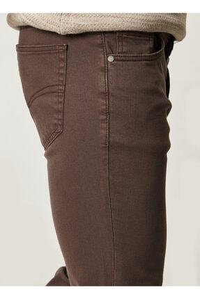 Altınyıldız Classics Erkek Kahverengi 360 Derece Her Yöne Esneyen Rahat Slim Fit Pantolon 1