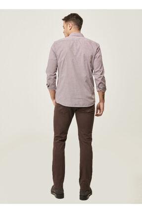 Altınyıldız Classics Erkek Kahverengi 360 Derece Her Yöne Esneyen Rahat Slim Fit Pantolon 4