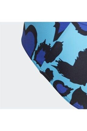 adidas Kız Çocuk Mavi Mayo 2