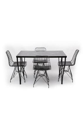 HİRA HOME CONCEPT Masa Tel Sandalye Takımı 1