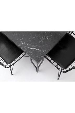 HİRA HOME CONCEPT Masa Tel Sandalye Takımı 3
