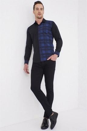 Efor G 1444 Slim Fit Siyah Spor Gömlek 3