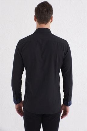 Efor G 1444 Slim Fit Siyah Spor Gömlek 4