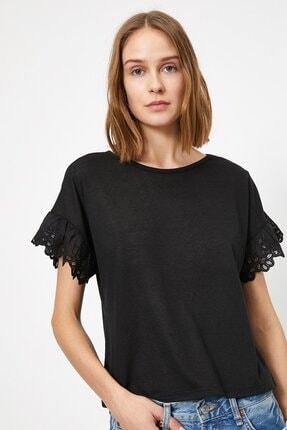 Koton Kadın Dantel Detayli T-shirt 0yak13979ok 0