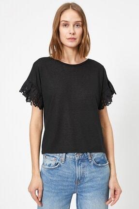 Koton Kadın Dantel Detayli T-shirt 0yak13979ok 1