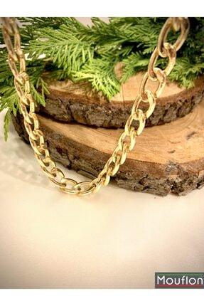 Kadın Altın Rengi Zincir Kolye kolye zincir 001