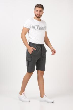 Tena Moda Erkek Antrasit Kargo Cepli Şort 4