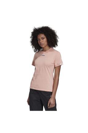 adidas Kadın Pembe Kısa Kol T-shirt 0