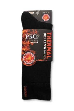 Pro Termal Erkek Siyah Bir Çift Kalın Kışlık Çorap 0
