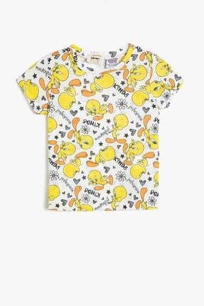 Koton Koton Kız Çocuk Sarı Looney Tunes Lisanslı Baskılı T-Shirt 0ykg17004gk 0