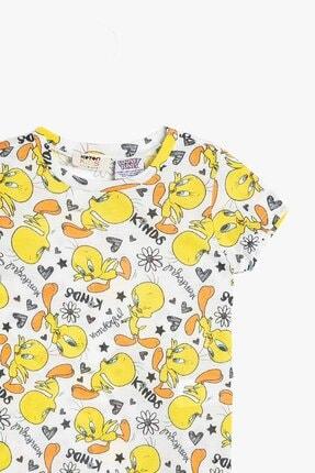 Koton Koton Kız Çocuk Sarı Looney Tunes Lisanslı Baskılı T-Shirt 0ykg17004gk 2