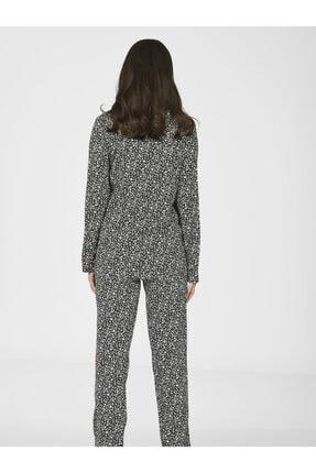 Nbb Önden Düğmeli Kadın Dokuma Pijama Takımı 67030 2