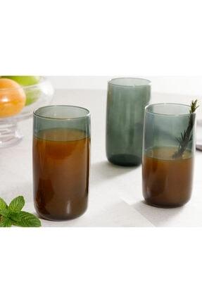 English Home Pia Cam 3'lü Meşrubat Bardağı 365 Ml Yeşil 0