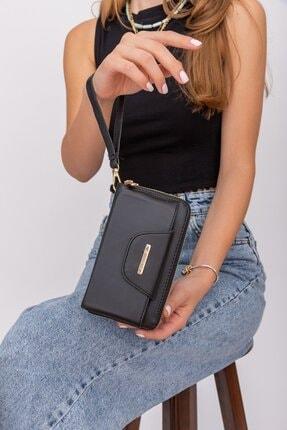 Shule Bags Telefonluklu Cüzdan 1013 Siyah 1