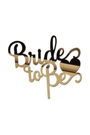 PartiPan Pleksi Bride To Be Kalpli Pasta Süsü Gold 1