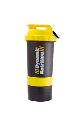 Dynamic Nutrition Dynamic 3 Hazneli Shaker 500 ml (Siyah-sarı) 0
