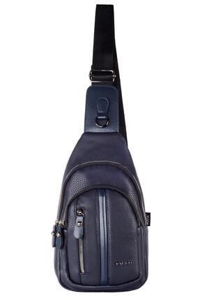تصویر از Deri Çapraz Göğüs Ve Omuz Çantası Body Bag 2023 Lacivert