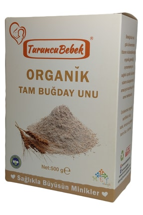 Turuncu Bebek Organik Tam Buğday Unu  500 gr 0