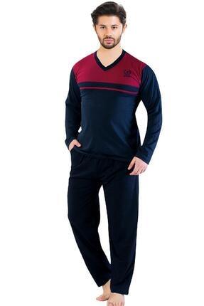Oksit Gls 2100 Uzun Kol V Yaka Erkek Pijama Takımı 0