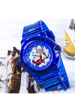 Picture of Akvaryum Tasarımlı Mavi Renk Silikon Kordonlu Çocuk Saat St-303718