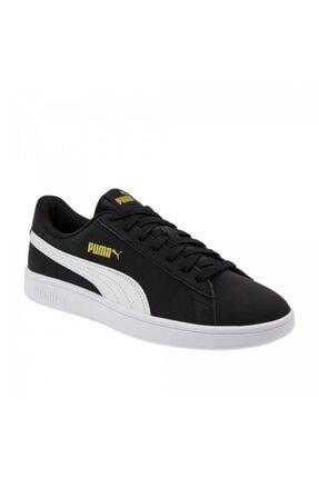 Puma Smash V2 Buck 365160 23 Kadın Erkek Sneaker Ayakkabı Siyah Beyaz 36-40,5 0