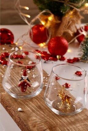 mozaikturk Yılbaşı Özel 6'lı Su Bardağı Seti 3