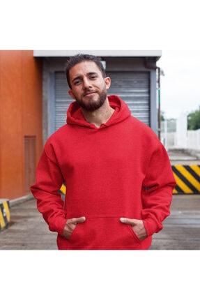 Fandomya Yılbaşı Virus 2021 Kırmızı Kapşonlu Hoodie Sweatshirt 2