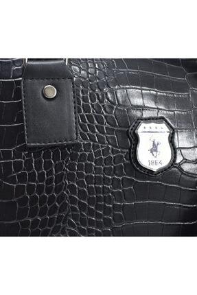 """California Polo Club Roma Siyah Anaconda 6 Gözlü 15.6"""" Evrak Ve Notebook Çantası 4"""
