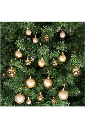 Kikajoy Yılbaşı Çam Ağacı Süsü Altın Set 36'lı 0