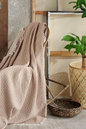 Fushia Natural Keten Koltuk Örtüsü | Kara Tezgah Dokuma Koltuk Şalı 3