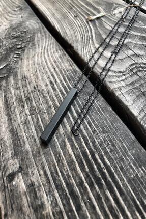 TAKIKRALI Mat Siyah Bar/çubuk Kesim Unisex Zincir. 0