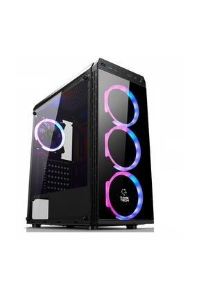 GAMETECH Gt-001 4x120mm Rainbow Fanlı Gaming Oyuncu Bilgisayar Kasası Psu Yok 0