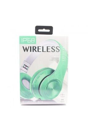 BLUPPLE Bluetooth Wireless Mikrofonlu Kablosuz Stereo Kulak Üstü Kulaklık Yeşil Genç Çocuk 2