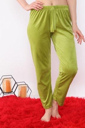 Arvin Kadın Kadife F. Yeşil Pijama Altı 3
