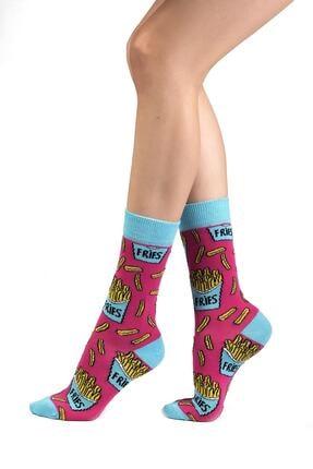 Ozzy Socks 6' Lı Organik Pamuklu Dikişsiz Kadın Asorti Çok Renkli Desenli Çorap 2